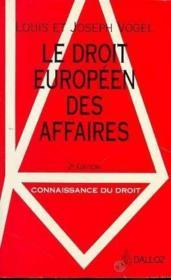 Le Droit Européen Des Affaires - Couverture - Format classique