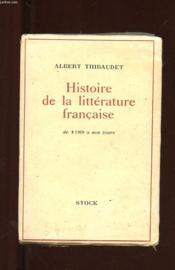 Histoire De La Litterature Francaise De 1789 A Nos Jours - Couverture - Format classique