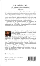 Les saltimbanques ; le grand exode et autres récits - Couverture - Format classique