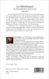 Les saltimbanques ; le grand exode et autres récits - 4ème de couverture - Format classique