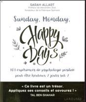 Sunday, monday, happy days ! - Couverture - Format classique