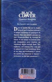 Black Clover - quartet knights T.1 - 4ème de couverture - Format classique