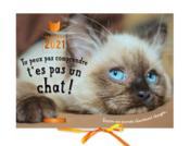 Calendrier tu peux pas comprendre, t'es pas un chat ! (édition 2021) - Couverture - Format classique