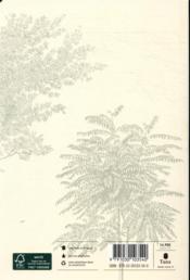 Agenda arbres (édition 2021) - 4ème de couverture - Format classique