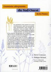 Graminées allergisantes du sud-ouest de la france - 4ème de couverture - Format classique