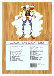 Lucky Luke T.22 ; les Dalton dans le blizzard - 4ème de couverture - Format classique