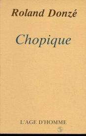 Chopique - Couverture - Format classique