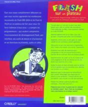 Flash Sur Un Plateau - 4ème de couverture - Format classique