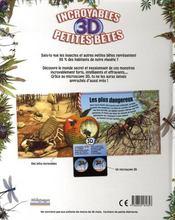 Incroyables petites bêtes 3D - 4ème de couverture - Format classique