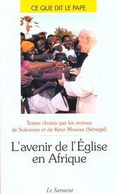 L'Avenir De L'Eglise En Afrique - Intérieur - Format classique