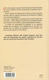 Suite cevenole - 4ème de couverture - Format classique