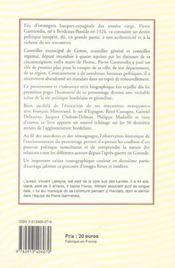Pierre Garmendia ; Un Demi Siecle D'Engagement Public - 4ème de couverture - Format classique