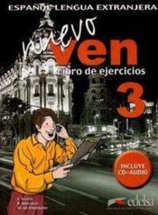 Nuevo ven 3 - cahier + cd - Couverture - Format classique