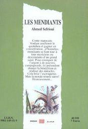 Les mendiants - 4ème de couverture - Format classique