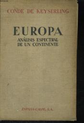 Europa, Analisis Espectral De Un Continente - Couverture - Format classique
