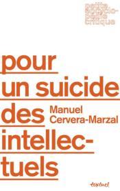 Pour un suicide des intellectuels - Couverture - Format classique