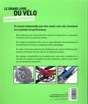Le grand livre du vélo - 4ème de couverture - Format classique