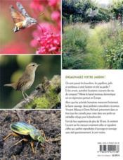 Accueillir la faune sauvage au jardin - 4ème de couverture - Format classique