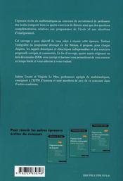 L'épreuve écrite de mathématiques ; professeur des écoles (2e édition) - 4ème de couverture - Format classique