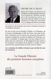 La grande histoire des premiers hommes européens - 4ème de couverture - Format classique