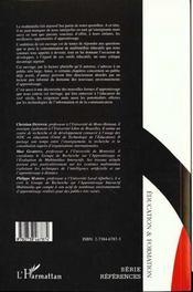 Les environnements d'apprentissage multimédia ; analyse et conception - 4ème de couverture - Format classique