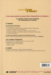 A Nous Le Monde ; Histoire ; Ce2 ; Le Cahier D'Exercices - 4ème de couverture - Format classique