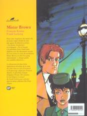 Agatha Christie t.5 ; mister Brown - 4ème de couverture - Format classique