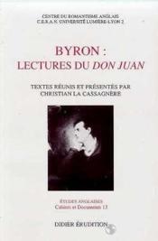 ETUDES ANGLAISES ; Byron ; lectures du Don Juan - Couverture - Format classique