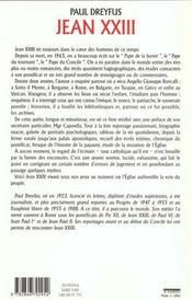 Jean Xxiii - 4ème de couverture - Format classique