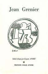 Cahier Jean Grenier - Couverture - Format classique