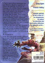 Revue Bifrost N.20 ; Greg Egan : Océanique - 4ème de couverture - Format classique