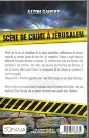 Scène de crime à Jérusalem - 4ème de couverture - Format classique