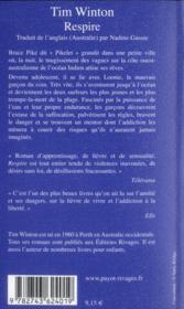 Respire - 4ème de couverture - Format classique
