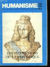 Humanisme - Revue Des Francs-Macons Du Grand Orient De France - N°155-156 - Couverture - Format classique