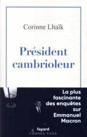 Président cambrioleur - Couverture - Format classique