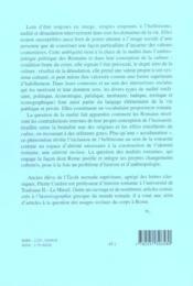 Nudites romaines - 4ème de couverture - Format classique