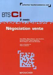 Négociation et vente ; BTS - Intérieur - Format classique