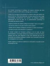 Droit public économique - 4ème de couverture - Format classique