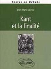 Kant Et La Finalite - Intérieur - Format classique