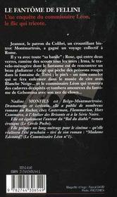 Les enquêtes du commissaire Léon T.6 ; le fantôme de Fellini - 4ème de couverture - Format classique