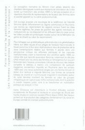 Faire et vivre le postocommunisme ; les femmes roumaines face à la transition - 4ème de couverture - Format classique