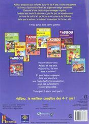 La Cuisine Adibou Activites Decouvertes 5-6 Ans - 4ème de couverture - Format classique