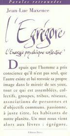 Egregore (l') - Intérieur - Format classique