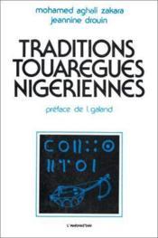 Traditions touaregues nigeriennes - Couverture - Format classique