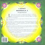 Effet Mandala 2 - 4ème de couverture - Format classique