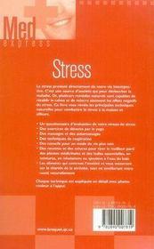 Stress - 4ème de couverture - Format classique