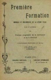 Première formation morale et religieuse de la jeune fille - Couverture - Format classique