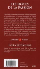 Les noces de la passion - 4ème de couverture - Format classique