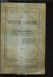 Les Universites Allemandes. - Couverture - Format classique