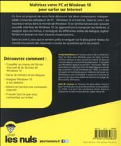 Windows 10 & internet pour les nuls (3e édition) - 4ème de couverture - Format classique